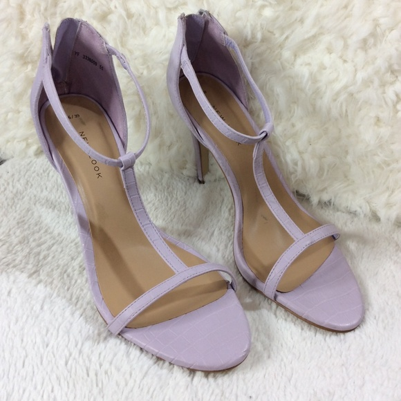 3d463051be New Look Shoes | Purple Lavender Tstrap Heels Sz 8 | Poshmark